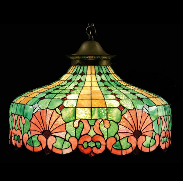 Chicago Mosaic Ornamental Fan Chandelier