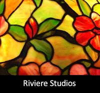 Riviere Studios Antique Mosaic Lampshades and Lamp Bases