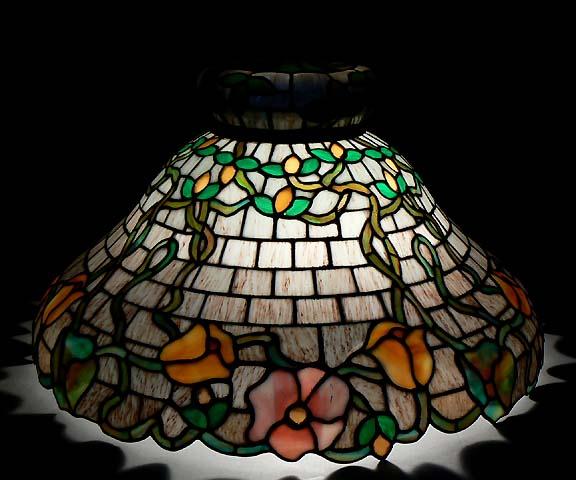 Kramer brothers leaded glass lamp shade aloadofball Gallery