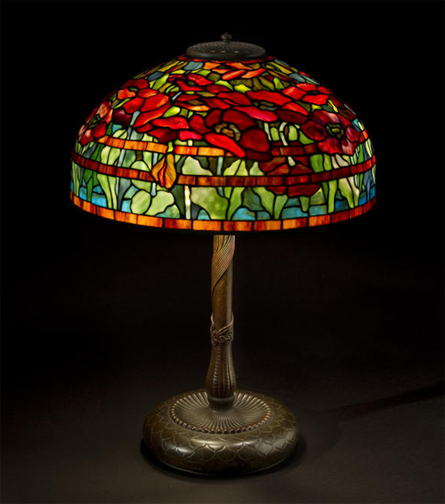 Tiffany Studios Oriental Poppy Table Lamp