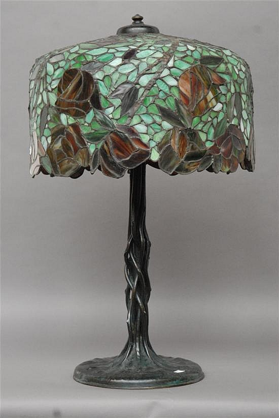 Unique Art Glass Amp Metal Company Table Lamp
