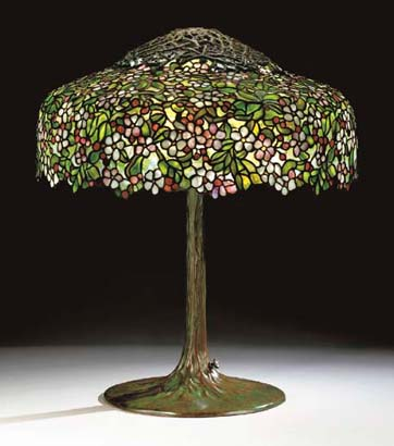 Tiffany Studios Apple Blossom Table Lamp