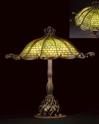 Tiffany Studios Octopus Table Lamp. CIRCA 1905