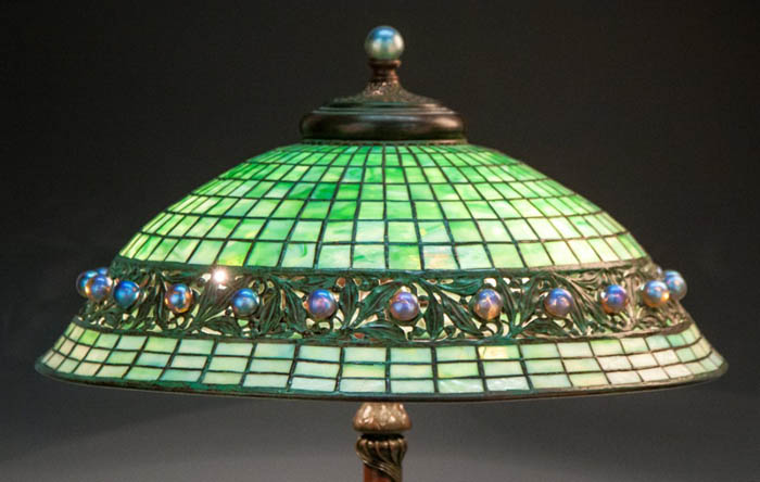 Tiffany Studios Glass and Bronze Ball Table Lamp