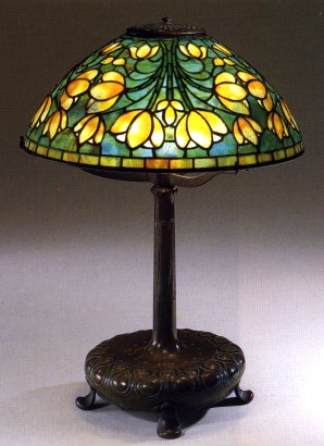 A Tiffany Favrile Glass And Bronze Crocus Lamp 1899 1920