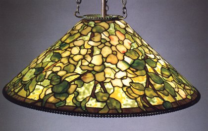 Tiffany studios dogwood cone chandelier mozeypictures Gallery