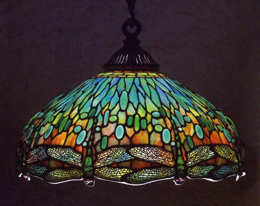 Tiffany studios hanging head dragonfly chandelier aloadofball Images