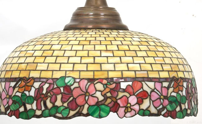 Bent Glass Novelty Company, New York, Floral Border Chandelier
