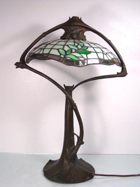 Gorham Art Nouveau Table Lamp:,Lighting