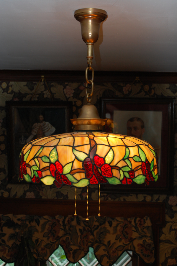 J A Whaley floral border chandelier
