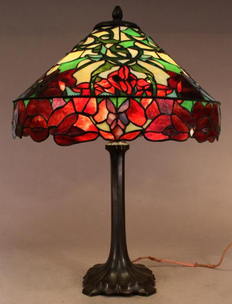 Whaley red poppy table lamp