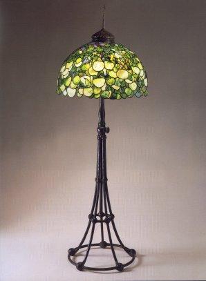 A Very Fine Tiffany Favrile Glass And Bronze Hydrangea