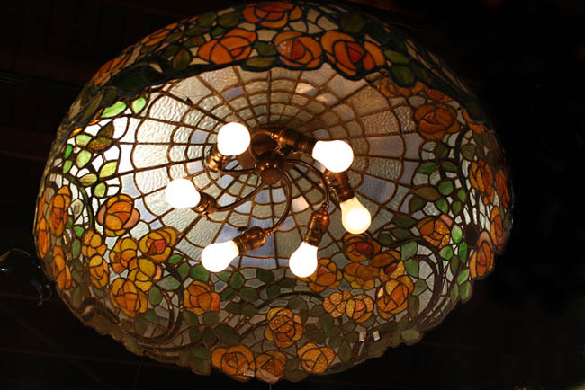 American Leaded Glass Chandelier