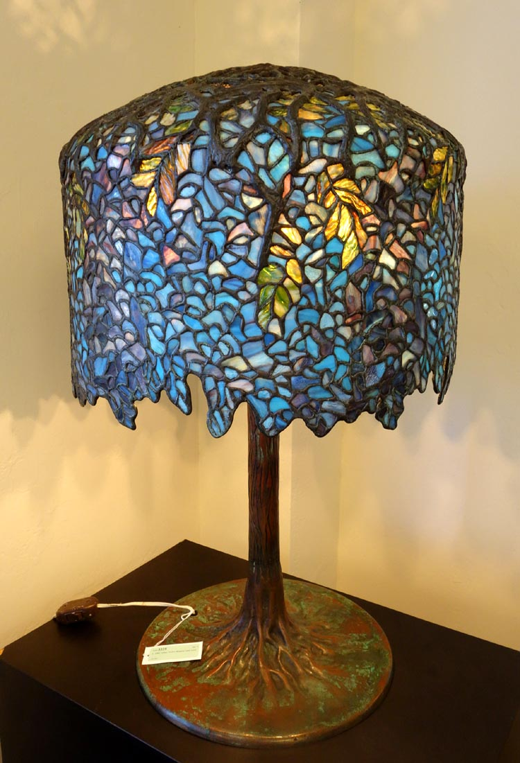 Unique art glass metal company wisteria table lamp aloadofball Image collections