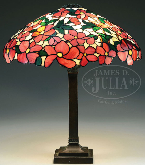 Suess Ornamental Glass Company Peony Table Lamp