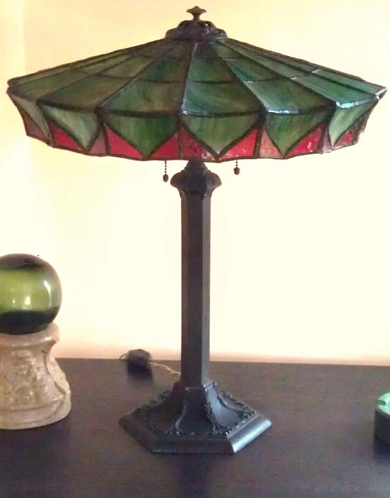 Bent Glass Novelty Table Lamp