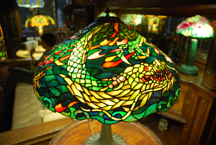 Duffner kimberly dragon table lamp aloadofball Choice Image