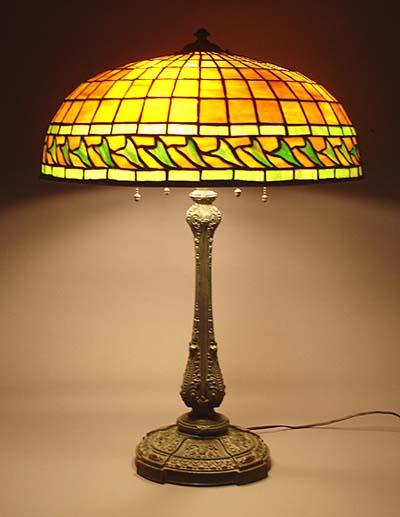 Suess leaded glass table lamp on wilkinson base aloadofball Choice Image