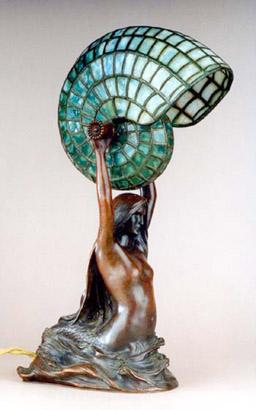 Nautilus Table Lamp, Tiffany Studios, c1895