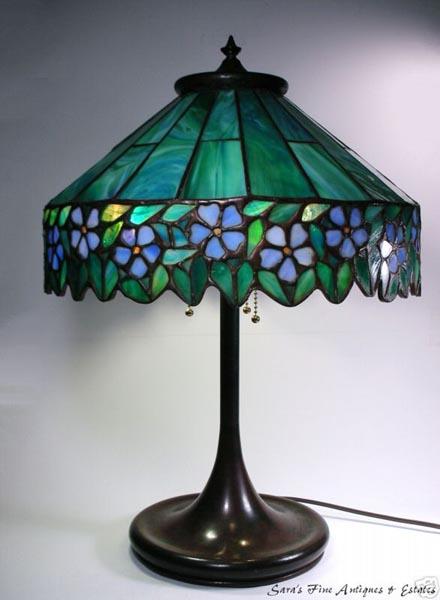 Unique Periwinkle Table Lamp