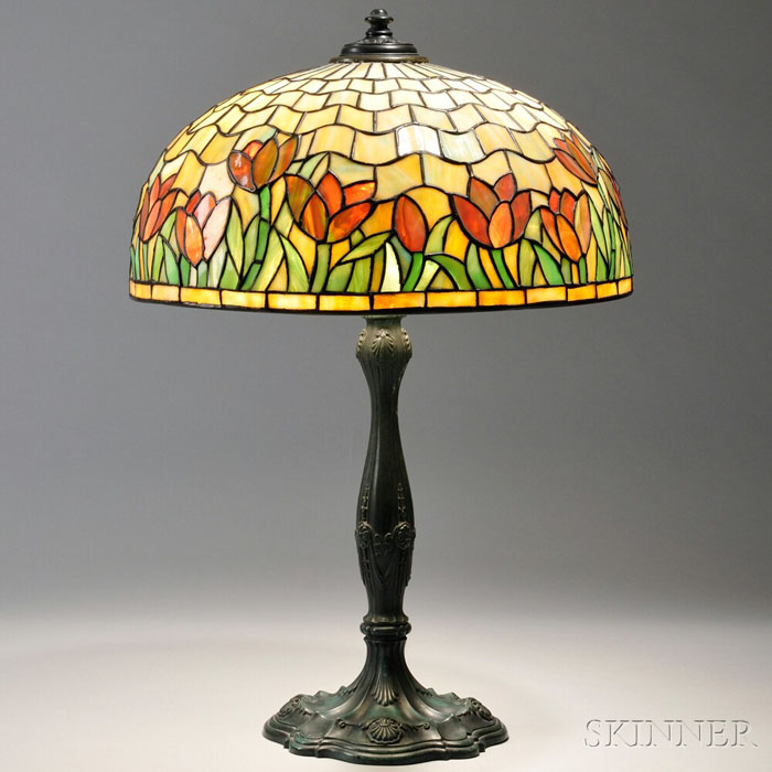 Frederick Lueders Bronze Table Lamp