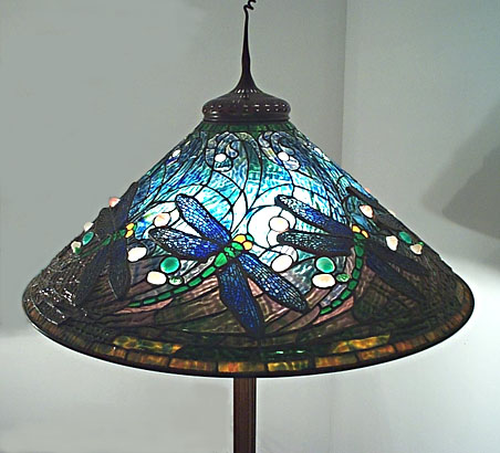 Tiffany studios swirling dragonfly floor lamp mozeypictures Images