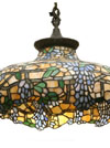 Bent Glass Novelty Wisteria Chandelier