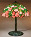 Colonial Art Glass Company Floral Lamp