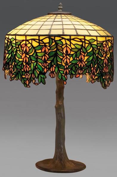 Unique Art Glass Amp Metal Company Wisteria Table Lamp