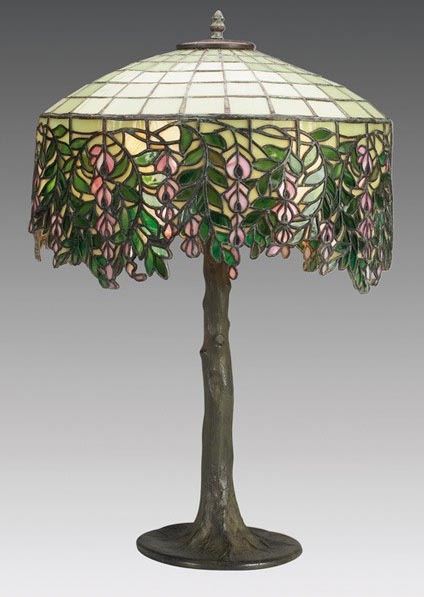 Unique Art Glass Amp Metal Company Wisteria Table Lamp